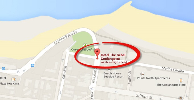 Location Map of Penthouse Apartments at The Sebel Coolangatta Gold Coast