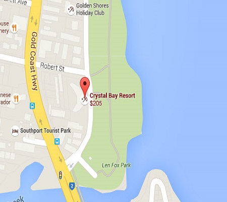 Location Map of Broadwater Gold Coast